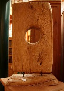 Massaya - d�coration en bois sur support. - Sculpture V�g�tale