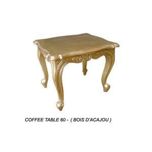 DECO PRIVE - table baroque basse en bois dore 60 cm deco prive - Bout De Canapé