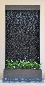 ETIK&� - murmure d'� calades noires polies - Mur D'eau