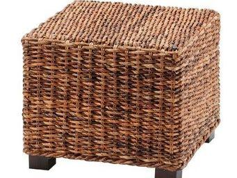 MEUBLES ZAGO - pouf abaca cuzco - Pouf