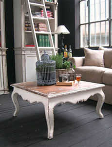 BLEU PROVENCE - vintage blanc - Table Basse Carrée