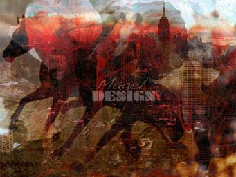Magel'design - epik new york 100x80 cm , 3d effet relief - Tableau Contemporain