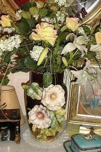Art & Antiques - superbe vase en longchamps - Vase À Fleurs