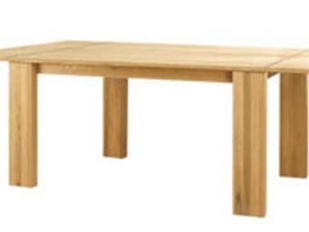 ZAGO - table côme en chêne massif avec 2 allonges 240x140 - Table De Repas Rectangulaire
