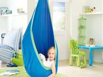 La Siesta - nid hamac bleu en coton pour enfant - Hamac Chaise