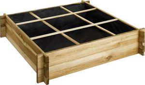 JARDIPOLYS - potager carré à poser 104x104x24cm - Carré Potager