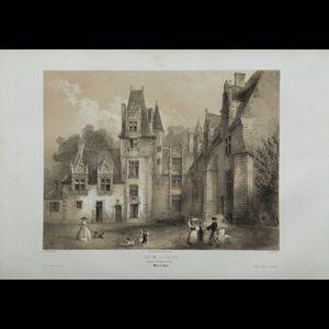 Expertissim - anjou. ensemble de cinquante-cinq vues lithographi - Lithographie