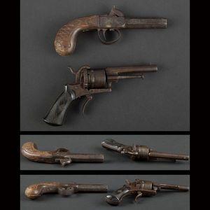 Expertissim - un revolver � broche et un pistolet � coffre - Pistolet Et R�volver