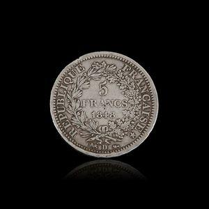 Expertissim - une pièce de 5 francs, type hercule, lyon 1848 - Piece De Monnaie
