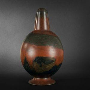 Expertissim - jean verschneider. vase balustre sur pi�douche en  - Soliflore