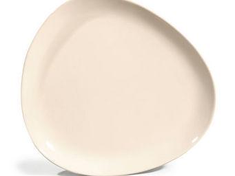 Maisons du monde - assiette plate stone ivoire - Assiette Plate