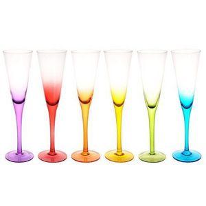 Maisons du monde - coffret 6 flûtes colorama - Flûte À Champagne