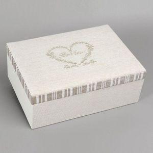 Maisons du monde - boîte à bijoux bonheur - Coffret À Bijoux