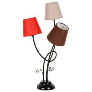 Maisons du monde - lampe triple brocante - Lampe À Poser