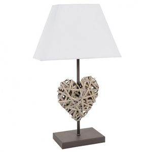 Maisons du monde - lampe cour rotin - Lampe � Poser