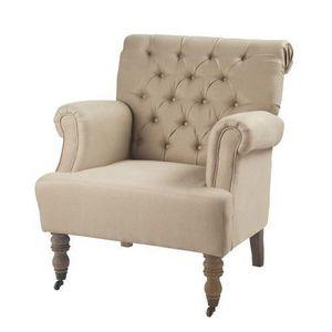Maisons du monde - fauteuil lin augustin - Fauteuil