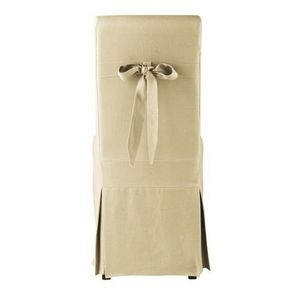 Maisons du monde - housse de chaise noud lin margaux - Housse De Chaise