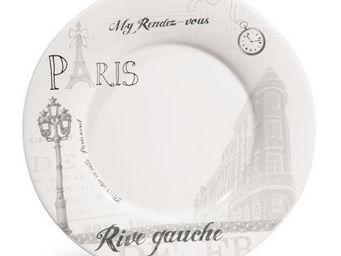 Maisons du monde - assiette plate rive gauche - Assiette Plate