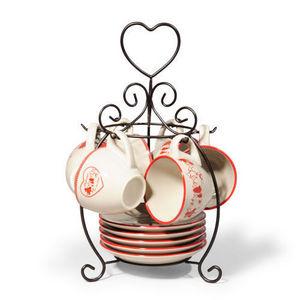 Maisons du monde - support 6 tasses et soucoupes à café montagne - Porte Tasses