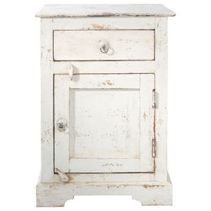 Maisons du monde - chevet blanc avignon - Table De Chevet