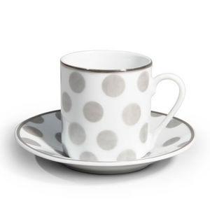 Maisons du monde - tasse et soucoupe à café mixed pois - Tasse À Café