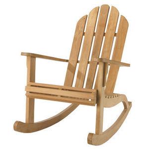 jhene rocking chair bleu miliboo decofinder. Black Bedroom Furniture Sets. Home Design Ideas