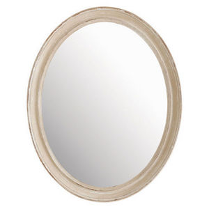 Maisons du monde - miroir elianne ovale beige - Miroir