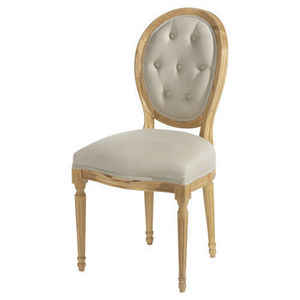 Maisons du monde - chaise louis capiton - Chaise Médaillon