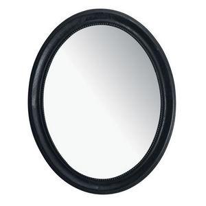 MAISONS DU MONDE - miroir louis ovale noir - Miroir