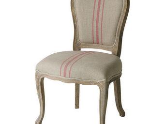 Maisons du monde - chaise rayures rouges adélaïde - Chaise