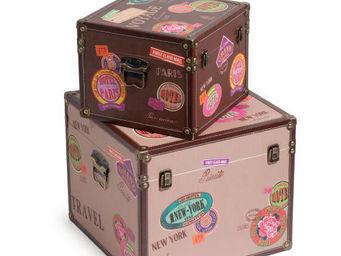 Maisons du monde - assortiment de 2 coffres backpackers - Boite De Rangement