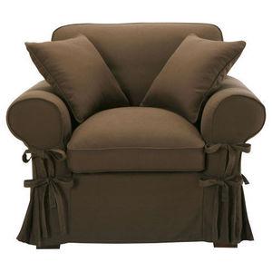 MAISONS DU MONDE - fauteuil coton chocolat butterfly - Fauteuil