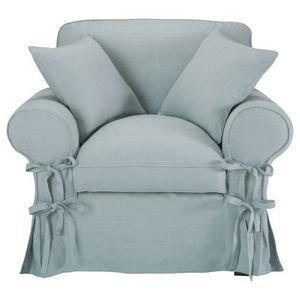 Maisons du monde - fauteuil lin bleu gris� butterfly - Fauteuil