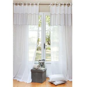 Maisons du monde - rideau coton d'autrefois - Rideaux � Lacettes