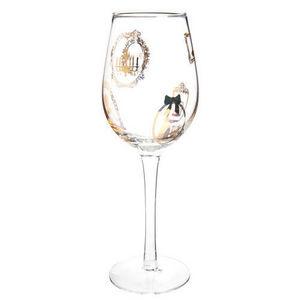 Maisons du monde - verre à vin cadres or - Verre À Pied