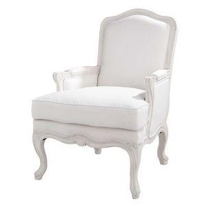 Maisons du monde - fauteuil blanc château - Fauteuil