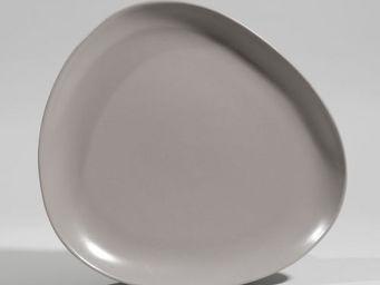 Maisons du monde - assiette plate galet grise - Assiette Plate