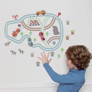 ART FOR KIDS - stickers circuit imaginaire - Sticker Décor Adhésif Enfant