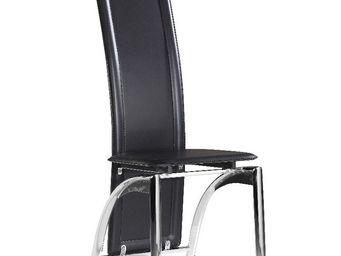 CLEAR SEAT - chaises modernes iris noir lot de 4 - Table De Repas Ronde
