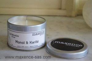 MAXENCE - monoi & karite : 40h de parfum 100% naturel ! - Bougie Parfumée