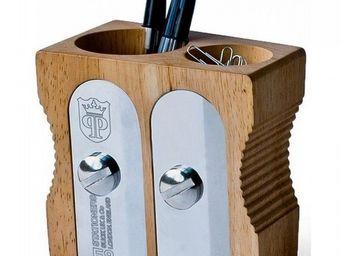 Manta Design - pot à crayons taille-crayons double - Pot À Crayons