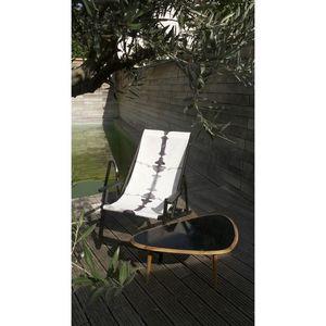 TROIS MAISON - toile de transat - empreinte grise - Chaise