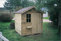 Cihb - abri de jardin collectivite - Abri De Jardin Bois