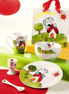 Brandani - coffret baby pippo 5 pièces en porcelaine 25,5x20x - Coffret Vaisselle Enfant
