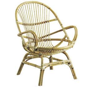 Aubry-Gaspard - fauteuil en manau coquille 67x65x89cm - Fauteuil De Jardin