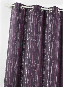 HOMEMAISON.COM - rideau ameublement en jacquard imprimé racines - Rideaux À Oeillets