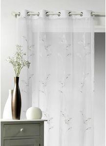 HOMEMAISON.COM - voilage fantaisie avec des fleurs verticales - Voilage