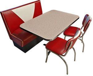 US Connection - set diner: banquette v avec 2 chaises - Coin Repas