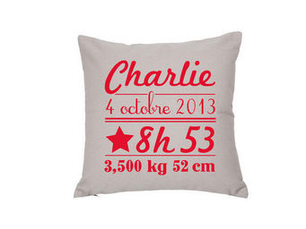 BY MATAO - coussin naissance noisette - Coussin Carr�
