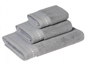 BLANC CERISE - drap de bain - coton peigné 600 g/m² - brodé - Serviette De Toilette